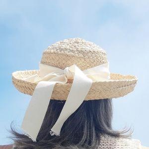 HELEN KAMINSKI Raffia Hat Vintage  black/cream bow